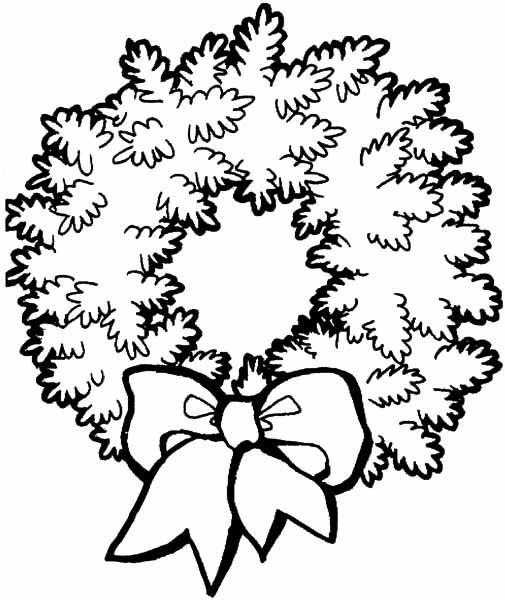 Une couronne de noel coloriage